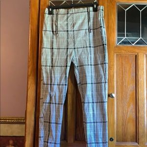 Plaid pixie pants size XL